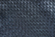 Woven leather background. A black woven leather background Stock Image