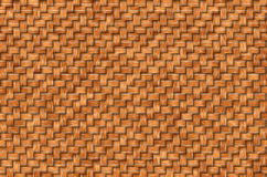 Woven leaves. Twisted woven leaves brown. Straight lines, close-up Stock Photography