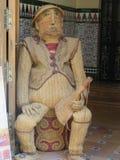 Woven male figure. In dorway to handycraft shop in Ubeda, Spain Stock Image