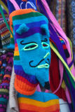 Woven mask at market in Cusco, Peru. Colorful Woven mask at a market in Cusco, Peru Stock Images