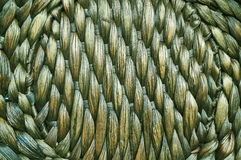 Woven mat . Woven mat of fibers of tropical plants Stock Images