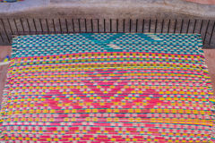 Woven mats handmade from dry reed imbue make Royalty Free Stock Photos
