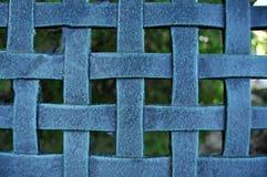 Woven Metal Mesh Grid Pattern Stock Photo