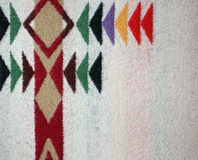 Woven Multicolored Woolen Blanket Royalty Free Stock Photography