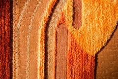 Woven Orange Texture Close Up Royalty Free Stock Photos