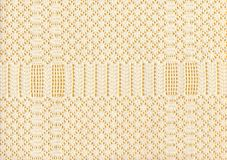 Woven pattern. Detail of hand woven tablecloth Royalty Free Stock Photos