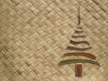 Woven pattern with christmas tree Stock Image
