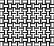 Woven pattern seamless. Black and white royalty free illustration