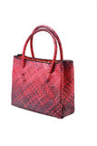 Woven plam leaf hand bag Royalty Free Stock Photography