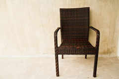 Woven plastic chair Royalty Free Stock Photography