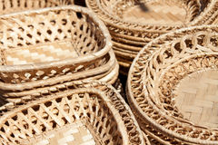 Woven plates Royalty Free Stock Images