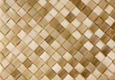 Woven Rattan. Brown and beige diamond texture of woven rattan Royalty Free Stock Image