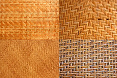Woven rattan with natural patterns. Royalty Free Stock Photo