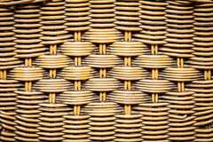 Woven rattan with natural patterns with bamboo wood Royalty Free Stock Photography
