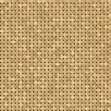 Woven rattan wicker seamless pattern texture background - light beige color Stock Photos