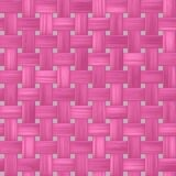 Woven rattan wicker seamless pattern texture background -  pink color Royalty Free Stock Photography