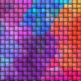 Woven rattan wicker weave pattern background - neon colorful Royalty Free Stock Image