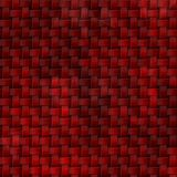 Woven rattan wicker weave pattern background - red color Royalty Free Stock Photo