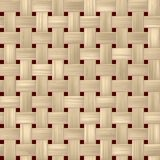 Woven rattan wicker weave seamless pattern background - light beige color Royalty Free Stock Images