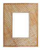 Woven reed frame Royalty Free Stock Photography