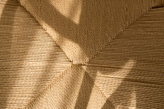 Woven rope from paper recycled. Royalty Free Stock Photos