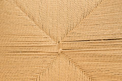Woven rope from paper recycled. Royalty Free Stock Photography
