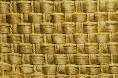 Woven rope and water hyacinth. Close up woven rope and water hyacinth for background Stock Image