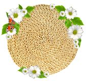 Woven round hand made background isolated Stock Image