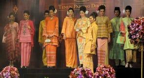 Royal Pahang Fashion. The woven sarongs of silk sarongs have expanded in Pahang , Terengganu , and Kelantan since 1838. This is noted in the writings of Abdullah Royalty Free Stock Photo