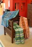 Royal Pahang weaving. The woven sarongs of silk sarongs have expanded in Pahang , Terengganu , and Kelantan since 1838. This is noted in the writings of Abdullah Stock Photo
