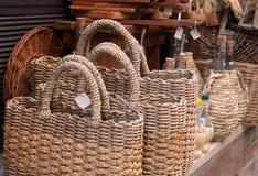 Woven shopping bag Stock Photo