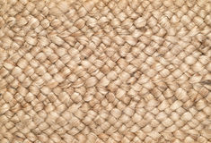 Woven Sisal & Wool Rug Background Stock Image