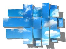 Woven sky, paper-strip Stock Images