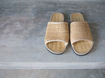 Woven slippers Royalty Free Stock Photo