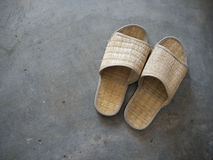 Woven slippers Royalty Free Stock Photography