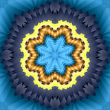 Woven star mandala Royalty Free Stock Photos