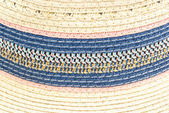 Woven straw background or texture. Brown blue pink yellow color stock images