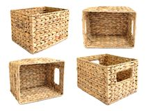 Woven straw basket Royalty Free Stock Image