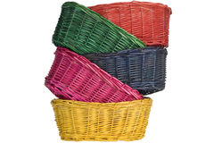 Woven straw baskets Royalty Free Stock Photography