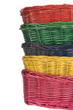 Woven straw baskets Royalty Free Stock Images