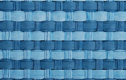 Woven straw blue Stock Photography