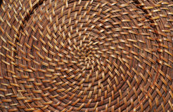 Woven straw in circle Royalty Free Stock Image