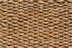 Woven straw. Rattan closeup. background. Royalty Free Stock Photography