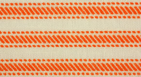 Woven stripe design fabric Stock Photo