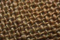 Woven textile fibrous texture. Macro Stock Photography