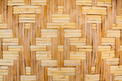 Woven texture bamboo crafts Stock Images