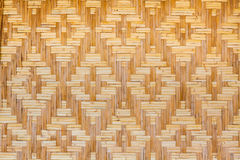 Woven texture bamboo crafts Stock Photography