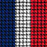 Woven texture of the flag of France Stock Photo