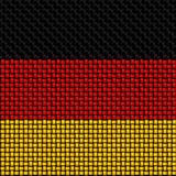 Woven texture of the flag of Germany Stock Images