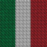 Woven texture of the flag of Italy Royalty Free Stock Photos